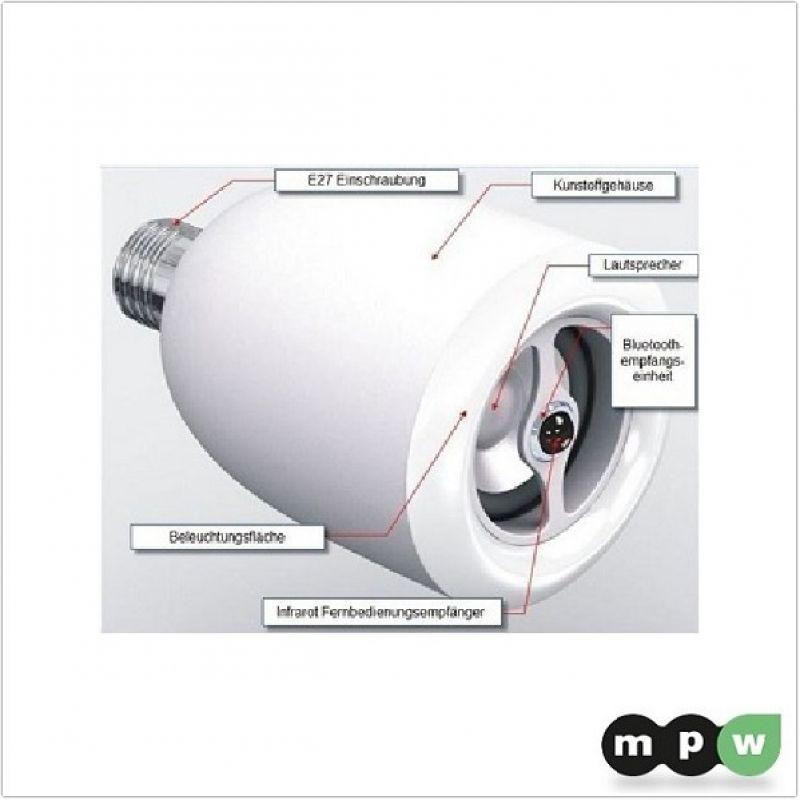 mpw led e27 leuchtmittel mit integriertem bluetooth. Black Bedroom Furniture Sets. Home Design Ideas