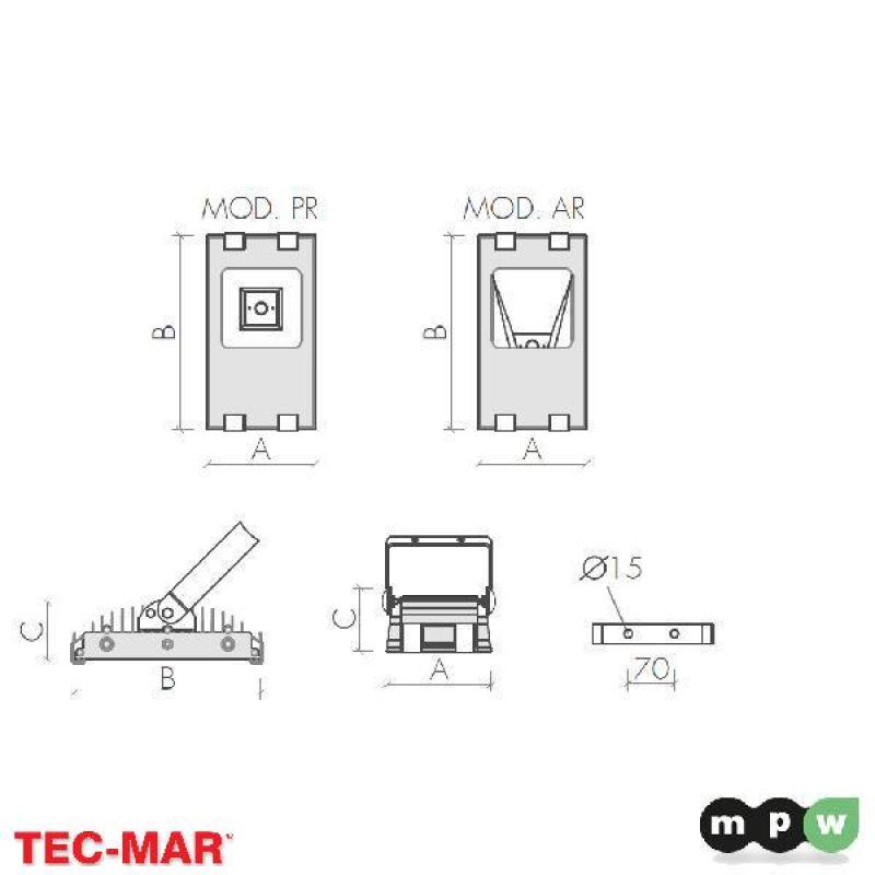 mpw tec mar led nano prince pr 4700 5000k 40w 114578. Black Bedroom Furniture Sets. Home Design Ideas