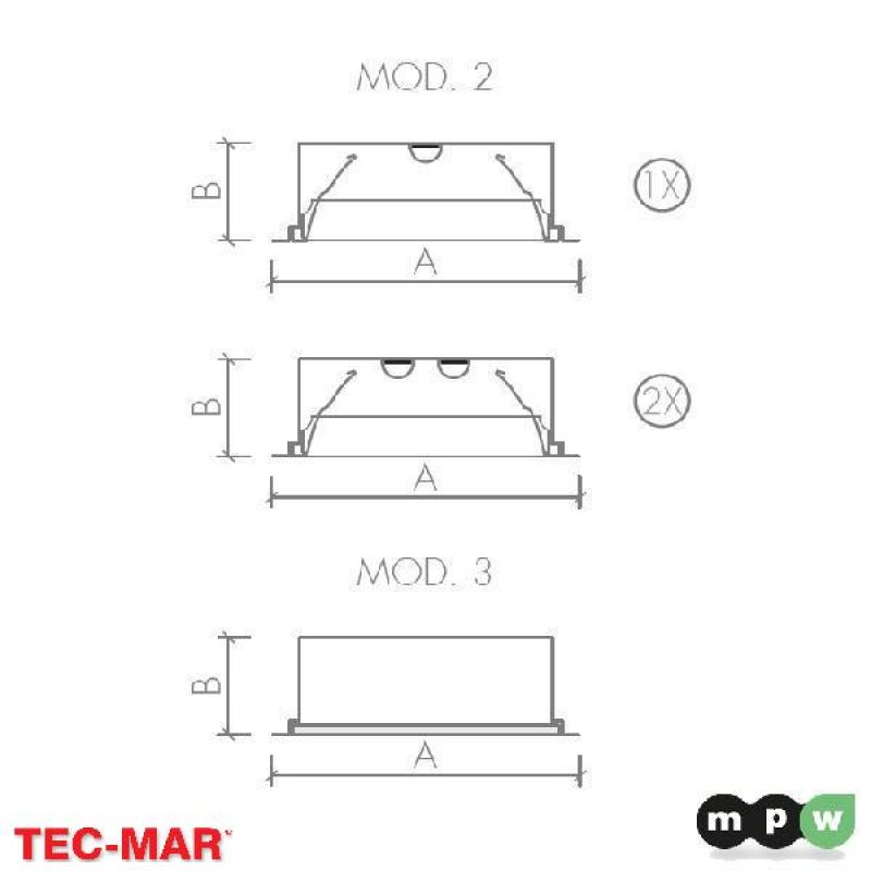 mpw tec mar led siracusa led m3 4100 4000k 33w 116545. Black Bedroom Furniture Sets. Home Design Ideas