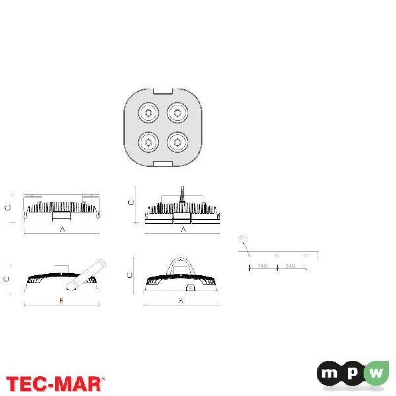 mpw tec mar led lord4 ps 25600 4000k 200w 116323. Black Bedroom Furniture Sets. Home Design Ideas