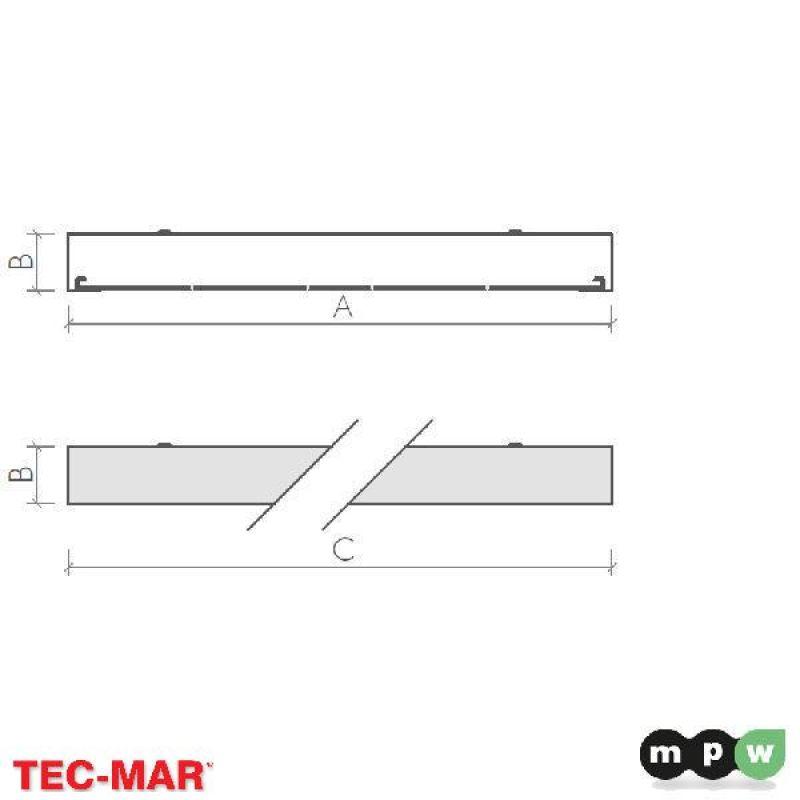 mpw tec mar led tosca p 4800 4000k 48w 116603. Black Bedroom Furniture Sets. Home Design Ideas